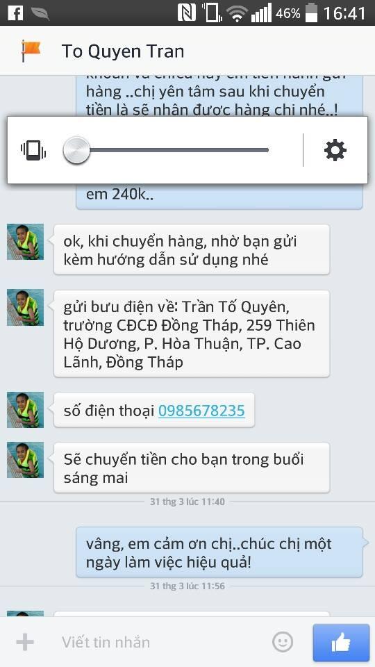 Chị Quyên - Đồng Tháp