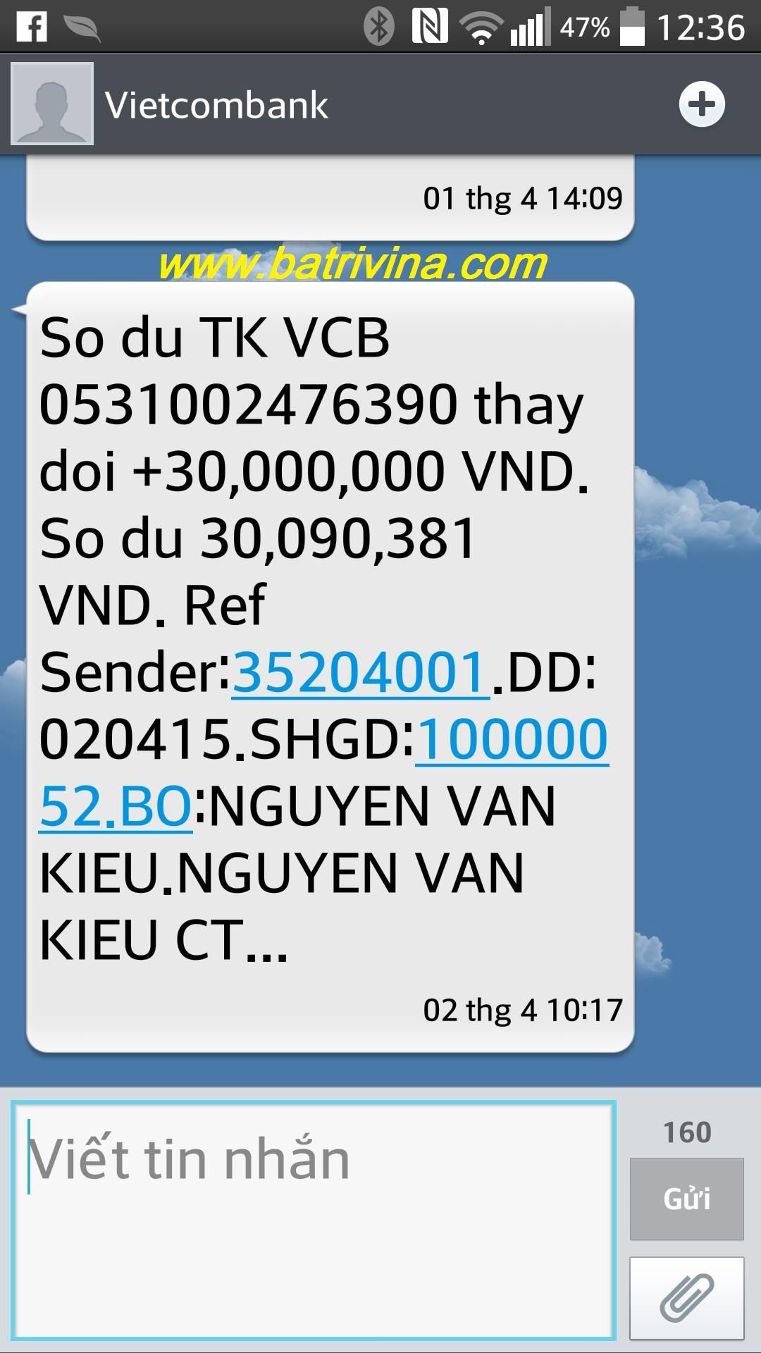 Khách hàng Nguyễn Văn Kiểu
