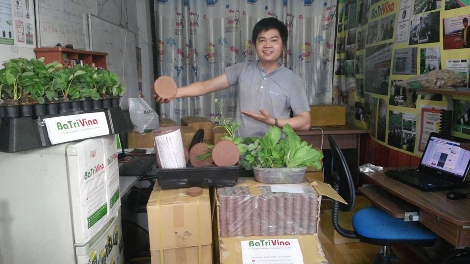 Viên Nén Giá Thể mụn dừa BaTriVina - Thay thế đất sạch trồng cây