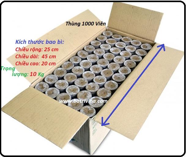 thùng 1000 viên nén ươm hạt batrivina