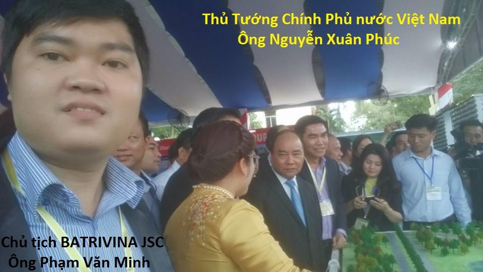 Chủ tịch BATRIVINA JSC ông Phạm Văn Minh Vinh dự được tham gia chương trình xúc tiến đầu tư Long An 2016.